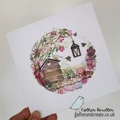 Card Io, Card Tags, Handmade Birthday Cards, Handmade Cards, Cardio Cards, Hessian Fabric, Banner Shapes, Distress Oxide Ink, Art Impressions