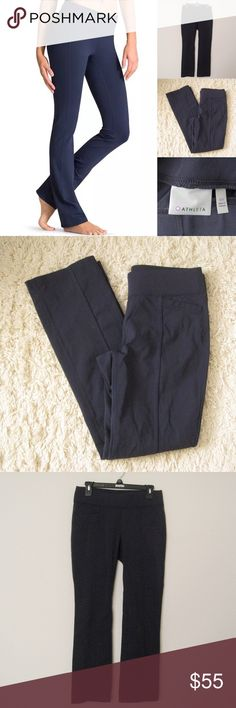"Athleta Yoga Pilates Straight Up Pants ATHLETA Navy Yoga Pilates Barre Straight Up Pants. Size MP.  Excellent condition. Worn once. No flaws. Materials: 88 Supplex Nylon%/ 12% Spandex                                                                             Features: 2 front pockets/2 back pockets Measurements (laying flat): • Waist - 30"" (around) Actual  • Front Rise - 9"" • Back Rise - 13""  • Inseam - 29""  • Length - 37"" (waist to hem) • Leg Cuff - 7.5"" ~❌SWAP❌TRADE ~ ✔️❤️Bundles📦💕…"