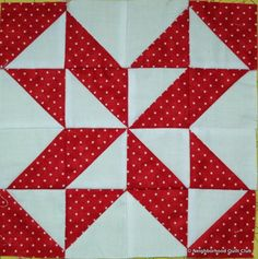 Neighborhood Quilt Club: Starting Point - Quilt Block Tutorial Half Square Triangle Quilts Pattern, Pinwheel Quilt Pattern, Quilt Square Patterns, Patchwork Quilt Patterns, Quilt Block Patterns, Pattern Blocks, Square Quilt, Quilting Projects, Quilting Designs