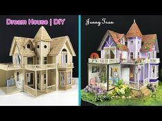 Coisas que Gosto: How to make a Beautiful Dreamhouse Cardboard Craft Stick Crafts, Diy And Crafts, Crafts For Kids, Craft Ideas, Rainbow Dash, Diy Dollhouse, Dollhouse Miniatures, Cardboard Crafts, Cardboard Houses