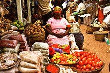 owino market in Kampala, Uganda