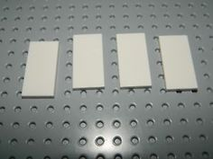 a new lego lot of 4 white 2x4 smooth plates tiles 9p