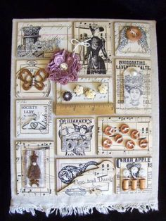 Vintage Style Sampler Canvas by Lisa M. Pace - Cards and Paper Crafts at Splitcoaststampers