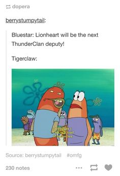 Bluestar: Lionheart will be the next ThunderClan deputy! Warrior Cats Funny, Warrior Cats Comics, Warrior Cat Memes, Warrior Cats Series, Warrior Cats Books, Warrior Cats Art, Cat Comics, Warriors Memes, Love Warriors