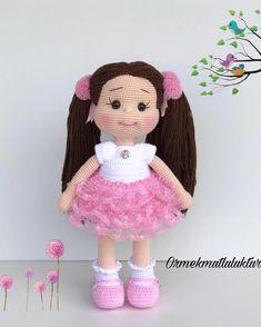 JULIA Crochet Toy / Amigurumi Doll - Crochet Doll for Daughter, Gift for Children, Gift for Baby, Gi Crochet Doll Pattern, Crochet Toys Patterns, Stuffed Toys Patterns, Doll Patterns, Knitted Dolls, Crochet Dolls, Beautiful Crochet, Beautiful Dolls, Girl Dolls