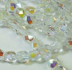 300 Czech Faceted Round Firepolished 6mm Crystal Ab Glass Beads 14 Mass Fire Polished >>> Be sure to check out this awesome product.