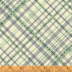 Homespun in Sea Glass from Meriwether Collection by Amy Gibson for Windham Fabrics Large x 2 stripes running diagonally across fabric. Fabric Patterns, Sewing Patterns, Stash Fabrics, Thing 1, Windham Fabrics, Art Gallery Fabrics, Plaid Fabric, Modern Fabric, Cool Fabric