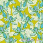 Mo Bedell Full Moon Lagoon Seaside Lily Citron [AF-5999-T] - $10.45 : Pink Chalk Fabrics is your online source for modern quilting cottons and sewing patterns., Cloth, Pattern + Tool for Modern Sewists
