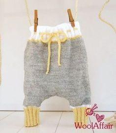 Babyharemshose einfach und schnell stricken - Strickanleitung via Makerist.de