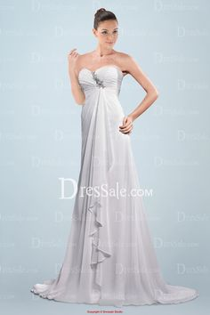 A-line Sweetheart Empire Wedding Dress Featuring Gathered Draping
