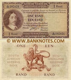 "South Africa 1 Rand Obverse: Portrait of Johan Anthoniszoon ""Jan"" van Riebeeck April 1619 – 18 January Reverse: Coat of Arms depicting a lion. Gerard Rissik (in office from 1 July 1962 to 30 June Watermark: Portrait of Jan van Riebeeck. 1 Rand, Vintage Metal Signs, Out Of Africa, Old Coins, The Beautiful Country, African History, Coat Of Arms, Historical Photos, Cape Town"