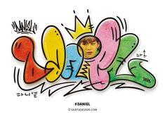 딸을 위해 시작하게 된... #강다니엘 #그래피티 #Daniel #Graffiti