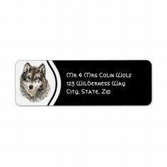 Shop Original Watercolor Grey Gray Wolf Animal Label created by countrymousestudio. Gray Wolf, Grey, Return Address Labels, Gift Tags, Letters, Watercolor, Templates, Writing, The Originals