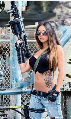 ::: sexy girls hot babes with guns beautiful women weapons  #girlswithguns #babeswithguns #hotgirlswithguns