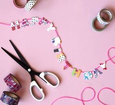 Word Garland | Creative Ways to Personalize with Washi Tape