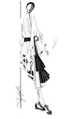 I smoke alone | Stefania Belmonte | fashion design