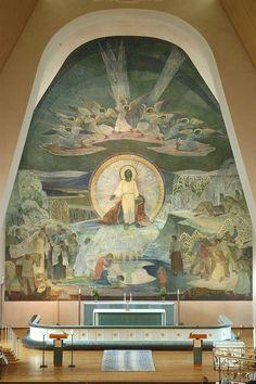 TaitelijaLennart Segerstråle (1892-1975) maalasi1920-luvulta alkaen monumentaalitaidetta erilaisiin julkisiin tiloihin.Suomen Pankin Finlandia-freskot Suomi herää ja Suomirakentaa,joita pide