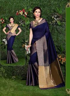 Buy women saree in different designs, styles, colors and fabrics. Customization & worldwide free shipping. Grab this fashionable art silk casual saree.