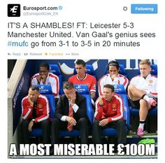 Manchester United virals: The internet responds Leicester result Manchester United Shorts, Social Media Site, Leicester, Baseball Cards