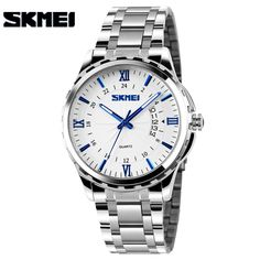 SKMEI Men Fashion Casual Quartz Watch Complete Calendar Relogio Masculino Stainless Steel Watches 30m Waterproof Wristwatches #>=#>=#>=#>=#> Click on the pin to check out discount price, color, size, shipping, etc. Save and like it!