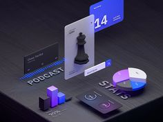 AR UI Kit designed by Edvinas Narbutas. Connect with them on Dribbble; Ui Ux Design, Interface Design, 3d Design, Layout Design, Graphic Design, Web Layout, User Interface, Fluent Design, 3d Presentation