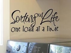 Laundry Room Wall Decal Laundry Room Decal Laundry Room Decor Laundry Decal  Laundry Decor Wall Decor Laundry Room Sticker Sorting Out Life Part 98