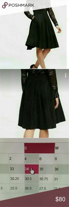 A line skirt NWT Gorgeous skirt perfect for parties or other special ocassions, fits true to size with pockets on each sides. A true charmer. Ann Taylor Skirts A-Line or Full