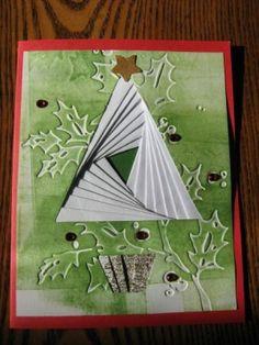 Triangle Iris folding : White Christmas by Ayesha Aziz Asha