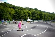 The scooter and bike course at Millhouses Park is great for little kids