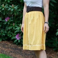 How to make a not so cute dress into a super cute skirt