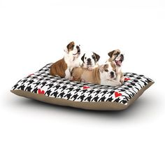 Empire Ruhl Spacey Houndstooth Heart Dog Bed  KESS by KessInHouse, $99.00