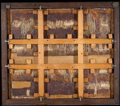 """Reverso de """"La Mesa de los Pecados Capitales"""" de El Bosco, Museo del Prado"""