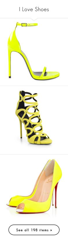 """I Love Shoes"" by sweetyfoxy ❤ liked on Polyvore featuring shoes, sandals, heels, strappy heel sandals, toe strap sandals, yellow sandals, high heel stilettos, strap sandals, giuseppe zanotti and scarpe"