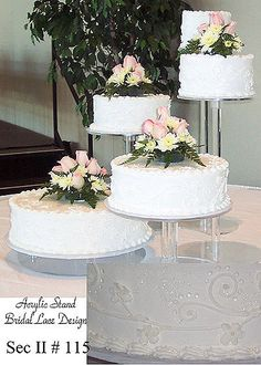 Acrylic Cake Stands  Wedding Cakes on Cakes Using Special Stands