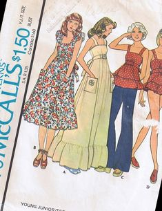 McCall's 2020; ©2020; Young Junior/Teen Dress or Top and Panties. High waisted, back zippered dress or top with bodice front and skirt front gathered into front band, has tie belt included in seam, shoulder straps and ruffle. Dress A with trimming and optional purchased appliques, or B with ruffles and rick rack trim, has patch pockets. Lined panties have elastic in casing. 1 Links to reviews/blog posts 2 Sources/Vendors 3 Gallery 4 Wishlist Add Cute Teen Dresses 34+ Mccall'S A | Fam Cute Dresses For Teens, Teen Dresses, Ruffle Dress, Ruffles, Doc Martens Outfit Summer, Diy Gifts For Him, Family Photo Outfits, Rick Rack, Country Wedding Dresses