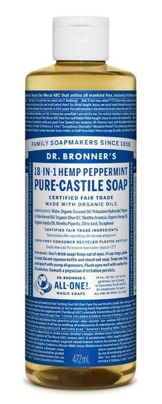 Amazon.com: Dr. Bronner Liquid Soap, Peppermint Hemp, 16 oz: Beauty $9.96
