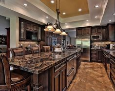 The Most Incredibly Overlooked Solution For Gourmet Kitchen 103 - walmartbytes Home Decor Kitchen, Rustic Kitchen, Kitchen Interior, Open Kitchen, Granite Kitchen, Kitchen Countertops, Kitchen Ideas, Tuscan Kitchen Design, Tuscan Design