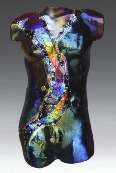 Tourmaline Moon Male Figure by Karen Ehart (Art Glass Sculpture) Mannequin Torso, Mannequin Art, Vintage Mannequin, Wall Sculptures, Sculpture Art, Statues, Arte Elemental, Art Vintage, Unusual Art