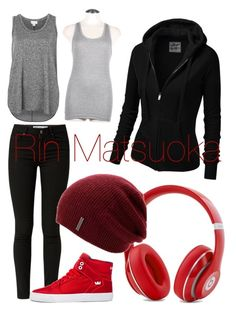 """Rin Matsuoka"" by misticmountains ❤ liked on Polyvore featuring moda, Witchery, J.TOMSON, Supra y Beats by Dr. Dre"