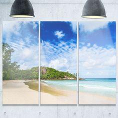DESIGN ART Seychelles Tranquil Tropical Beach - Modern Seascape