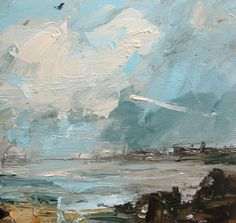 High Clouds and Turquoise Sky by Louise Balaam