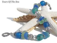 A Blue Sea - Sea Glass Bracelet  by Sea Glass Jewelry By Tears Of The Sea, via Flickr