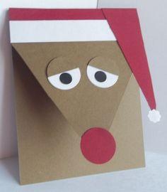 Stampin Up Handmade Greeting Card Christmas Reindeer Holidays