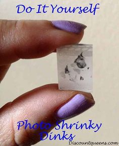 Do It Yourself PHOTO Shrinky Dinks!