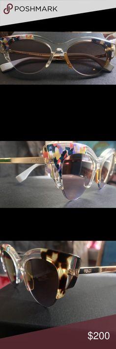 edfb2214784 New Fendi Multi-Colored Jungle Printed Sunglasses New Fendi FF 0178 TKW  multi colored sunglasses for sale. Willing to negotiate on price. Fendi  Accessories ...