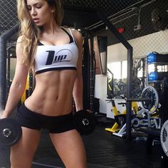 RIPPED ABS of Colombian bikini & #Fitness model Anllela Sagra : if you LOVE Health, Workouts & #Inspirational Body Goals - you'll LOVE the #Motivational designs at CageCult Fashion: http://cagecult.com/mma