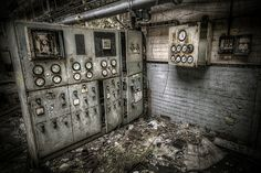 And the dials went pop! Massive control panel found in derelict factory. #Urbex #HDR