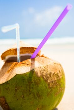 Coconut water! My favourite hangover cure / middle of the day pick me up / delicious, refreshing drink!!!
