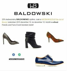 Minden Baldowski cipőre -20% kedvezmény dec.12-ig