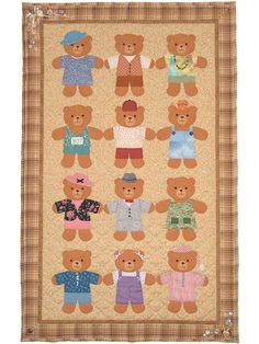 Friendship Bears Wall Hanging Pattern from Annie's Craft Store. Order here: https://www.anniescatalog.com/detail.html?prod_id=134328&cat_id=1644